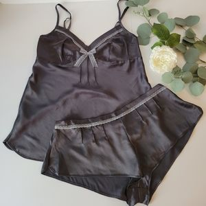 Victoria's Secret Dream Angels two piece gray cami and shorts set